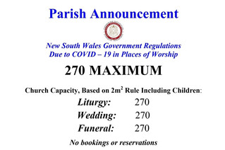 CHURCH CAPACITY RESTRICTIONS