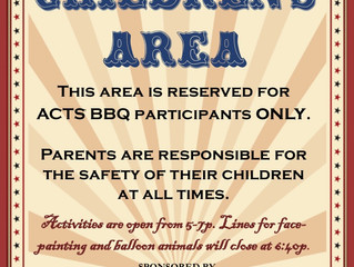 Roses Sponsor Children's Area at ACTS BBQ