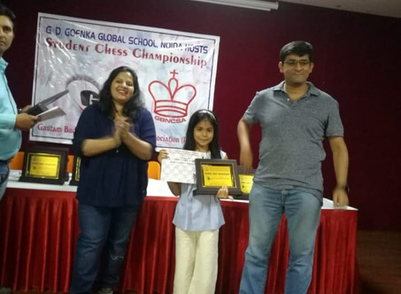Silver Medal in District Chess Tournament