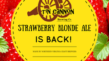 Live @ Tin Cannon Brewing Co Tonight! Come get your Strawberry Blonde Ale....