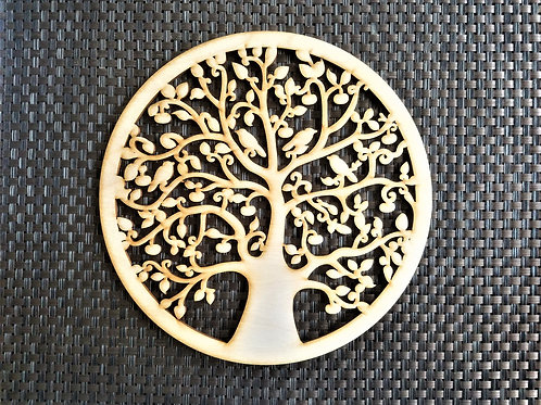 Tree of life with birds Wooden wall hanging Wall art decor Living Room decor