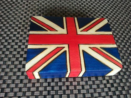 British Flag - wooden box