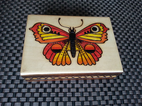 Butterfly - wooden box