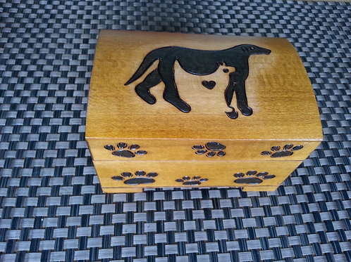 Dog and Cat - wooden box