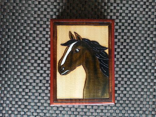 Horse - wooden box