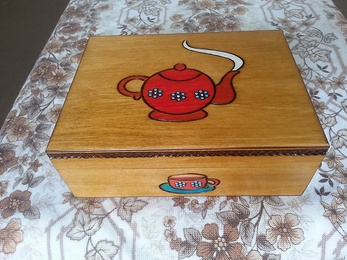 Tea wooden box