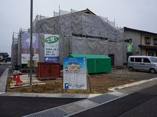 福井市内にて建前完了