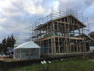 春江にて新築工事が始まりました。
