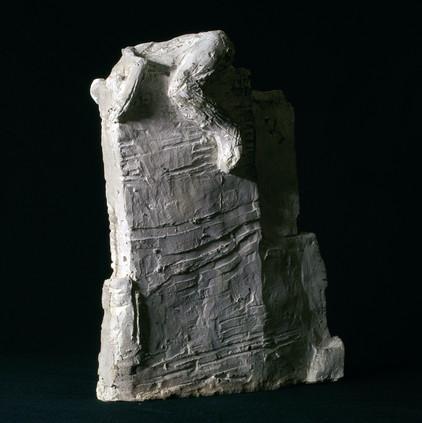 Mann auf Mauer · Beton · 2006 · 30 x 31 x 13 cm (1)
