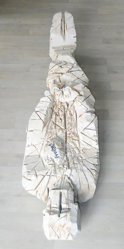 Freiheit (Schiller) · Pappel, geweißt und bemalt · 2009/2012 · H 166 | B 43 | T 32 [cm]