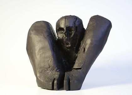 Ahnenfigur III · Kirsche, Gips, geschwärzt · 2007 · H 40 | B 30 | T 30 [cm]