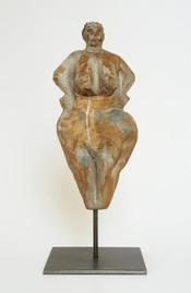 Ahnenfigur VI · Eiche, bemalt · 2008 ·H 38 | B 17 | T 14 [cm] (in Privatbesitz)