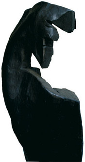 Wächter III · Platane, geschwärzt · 2005 · H 212 | B 60 | T 40 [cm]