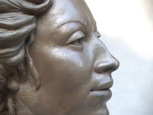 Victorian Lady (detail)_cold cast bronze