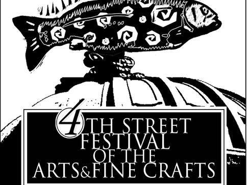 4th Street Art Festival Ad_(B&W)