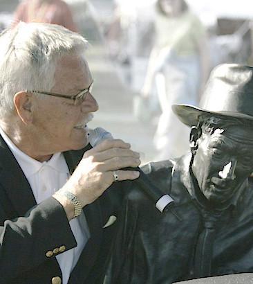 Randy Carmichael (son of Hoagy) with Hoagy at Indianapolis, Indiana