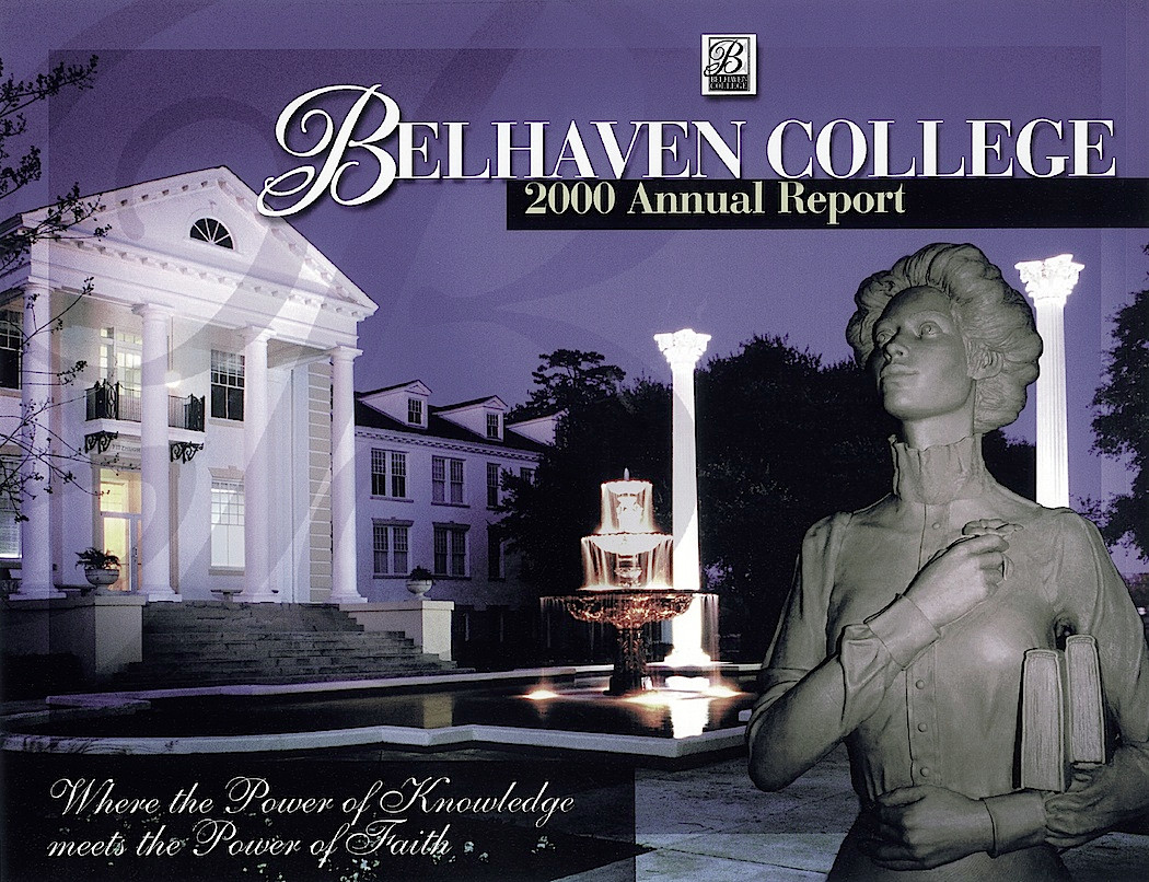 Belhaven College Report Cover_w/clay sculpture