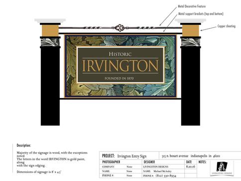 Irvington Indiana Sign Proposal