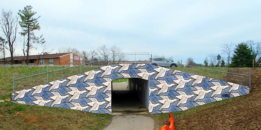 Proposed Underpass Design_(after Escher_birds)