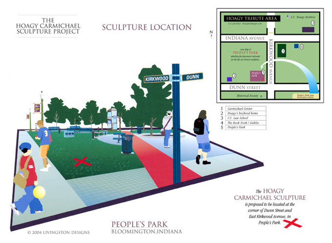 Illustration for Proposed Sculpture Location_(Bloomington, Indiana)