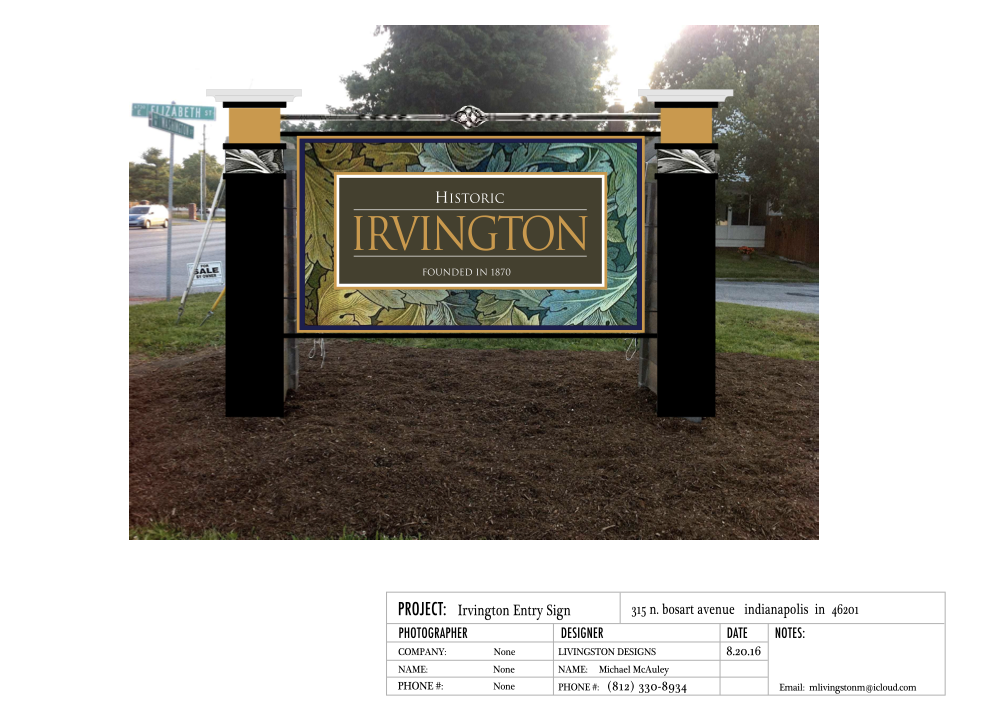 Irvington Indiana Sign Proposal_(mock-up for proposed site)