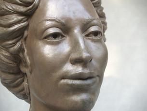 Victorian Lady (detail.2)_cold cast bronze
