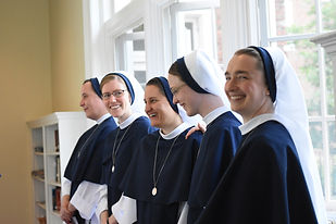 The Sisters of Life are a contemplative/active Roman Catholic community of women religious, who profess the three traditional vows of poverty, chastity, and obedience, and a fourth vow to protect and enhance the sacredness of human life.