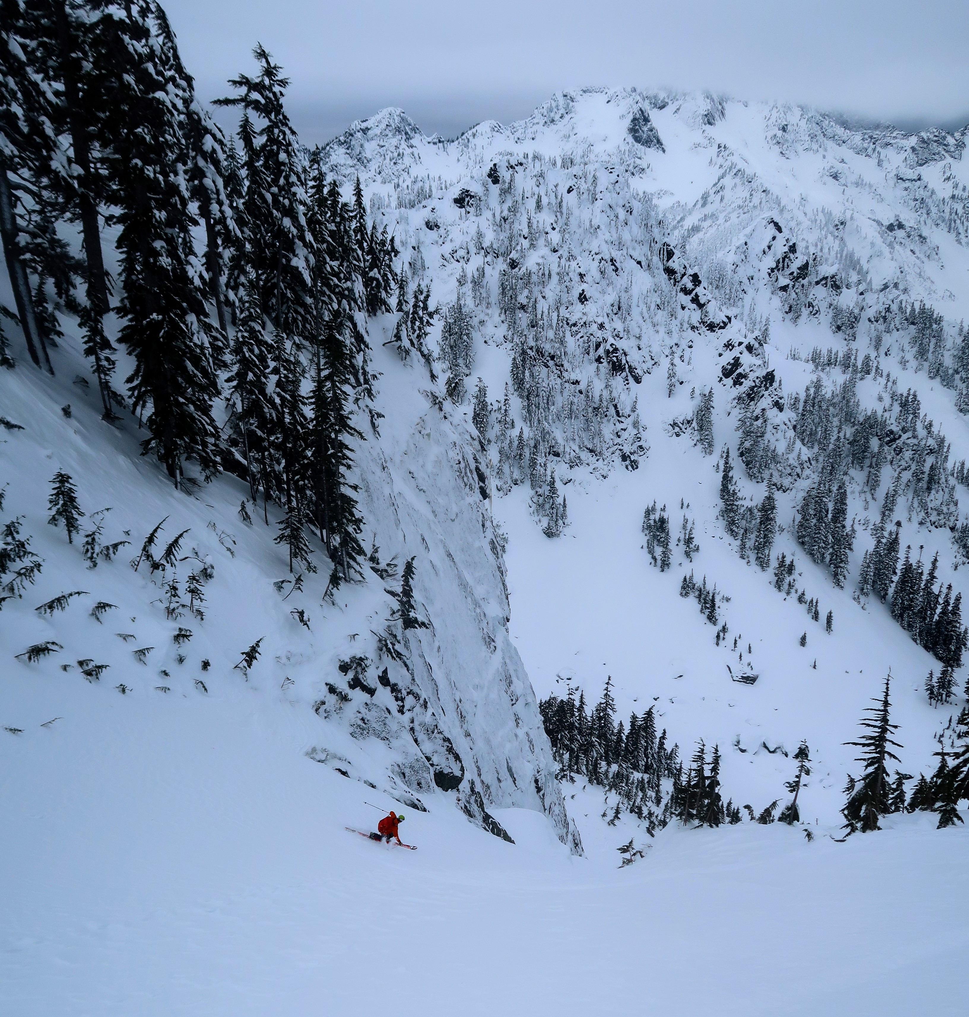 Constriction on Crooked Couloir