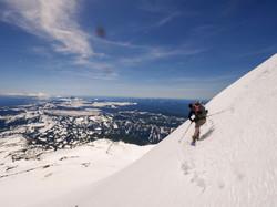 Skiing Mt Jefferson