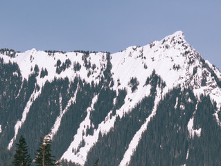 Skiing McClellan Butte's East Face