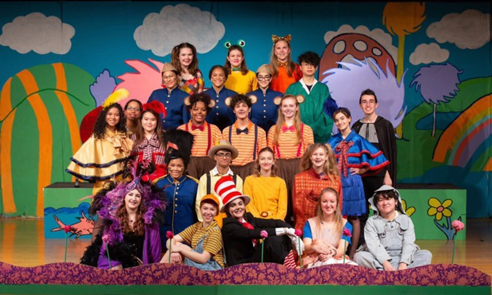 The cast of Seussical, ECHS Spring 2020