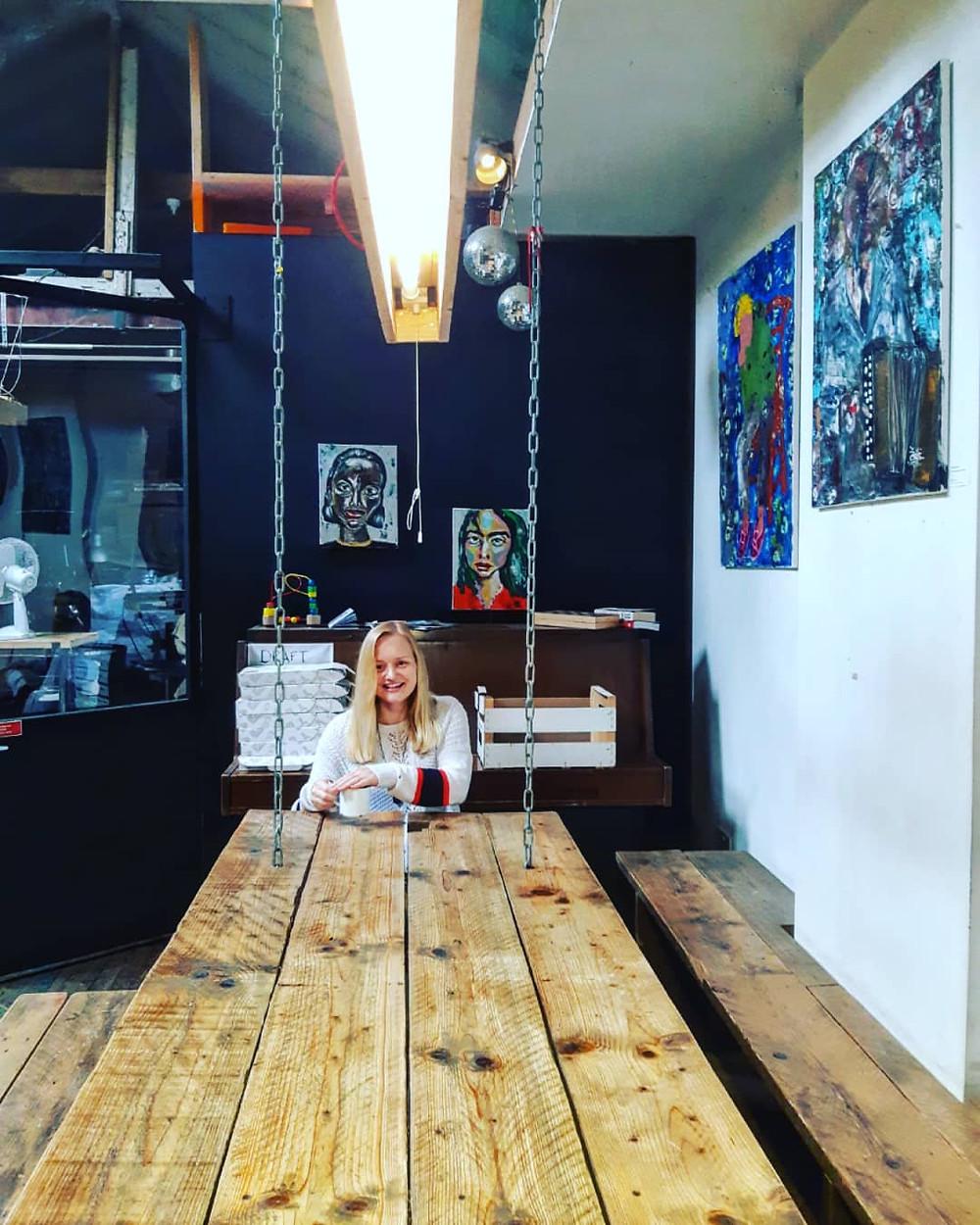 zivile kasparaviciute, vagabond, london, islington, islington coffee shop, art in islington, lithuanian artist, lietuviu menininkai