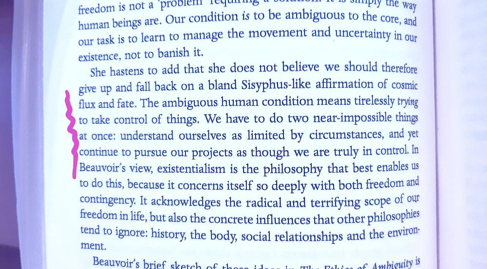 Beauvoir, life inspiration, philosophy, art, books, quotes, control life