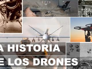 Historia de los drones o Aeronaves pilotadas remotamente
