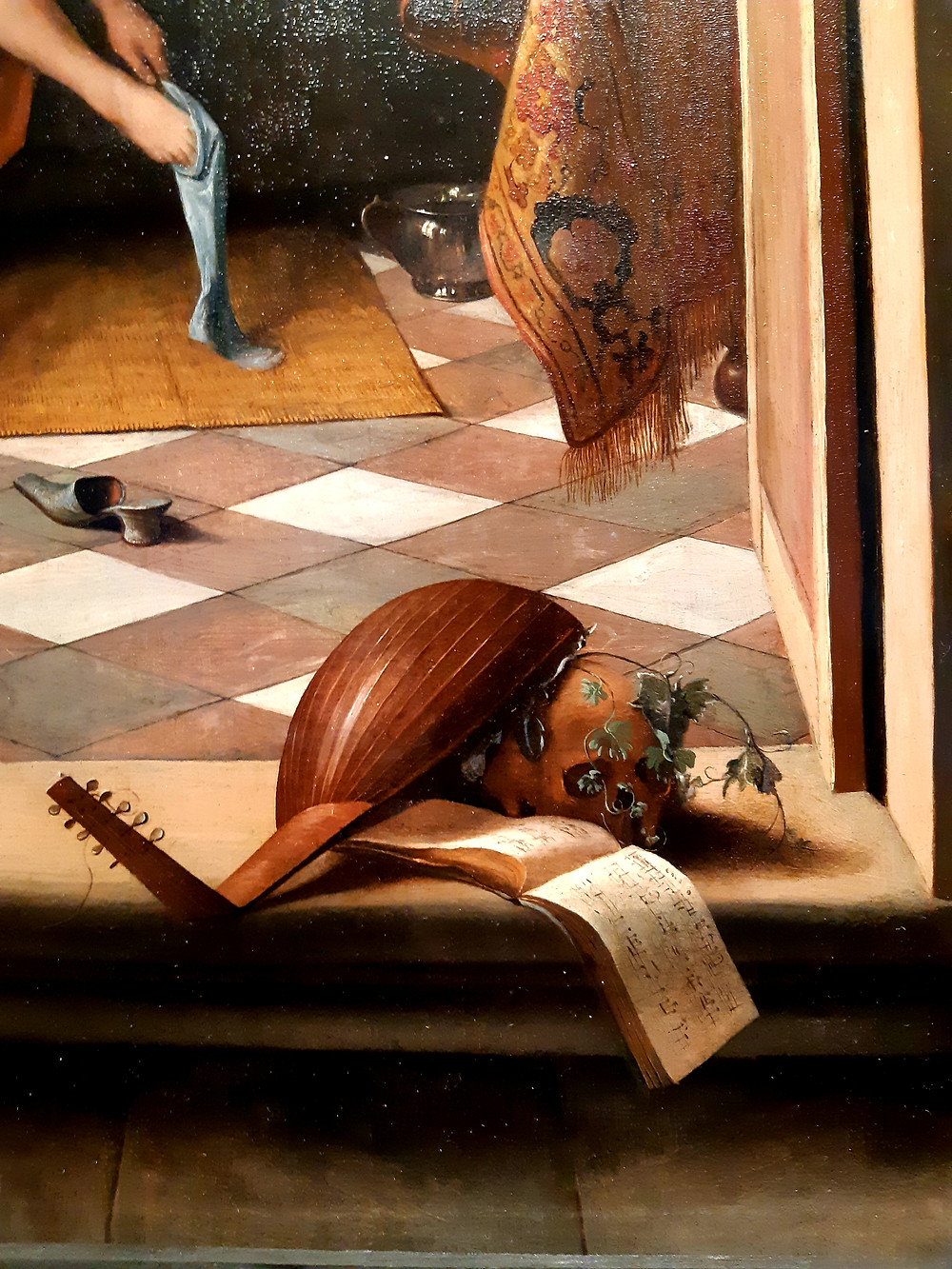 """Old Masters: Detail of Jan Steen """"Woman at her Toilet"""", The Queen's Gallery, Buckingham Palace"""