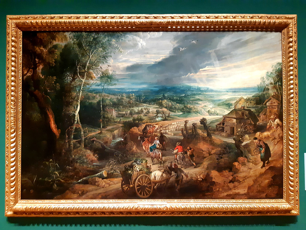 """Peter Paul Rubens """"Summer: Peasants Going to Market"""", The Queen's Gallery, Buckingham Palace"""