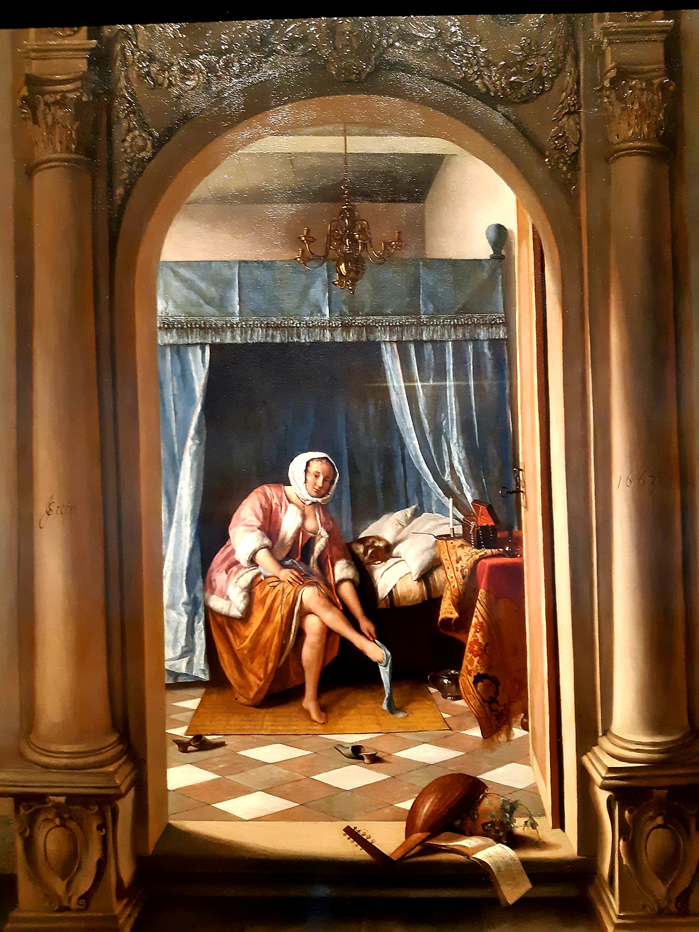 """Jan Steen """"Woman at her Toilet"""", The Queen's Gallery, Buckingham Palace"""