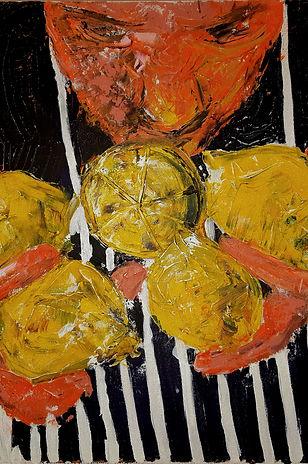 Acrylic painting lemons