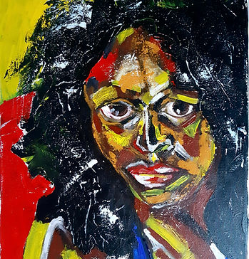 Acrylic painting Michelle Obama