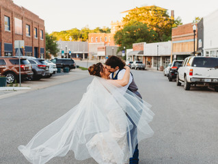 Sarah & Marshall's Beautiful Wedding Day at the Montgomery Event Venue | Excelsior Springs, MO