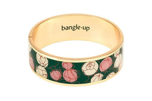 Bangle Up Bracelet 2cm Mermaid Pink Powder & Green woft