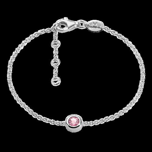 Silver Bracelet with Tourmaline
