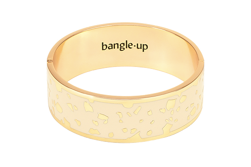 Bangle Up Bracelet 2 cm Lucy WhiteSand