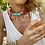 Thumbnail: Dear Charlotte White & Turquoise Resine Necklace