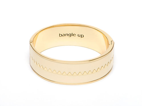 Bangle Up Bracelet 2cm Bollystud White Sand