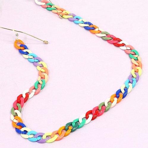 Colourful Acrylic Glasses Chain