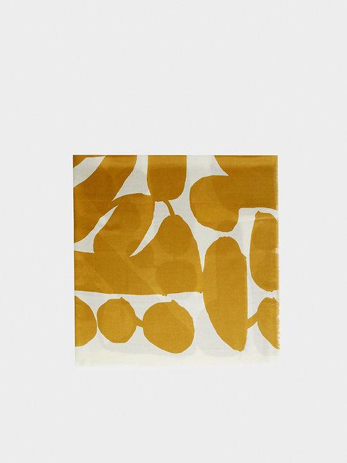 Saffron yellow & beige scarf