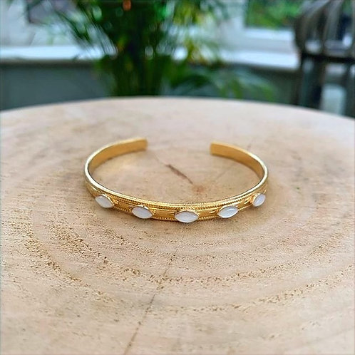 Dear Charlotte bangle with mother of pearl