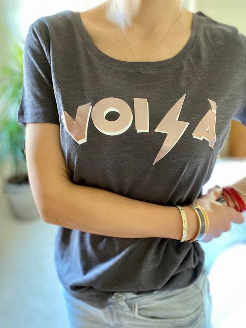 Voila Grey Organic Tshirt