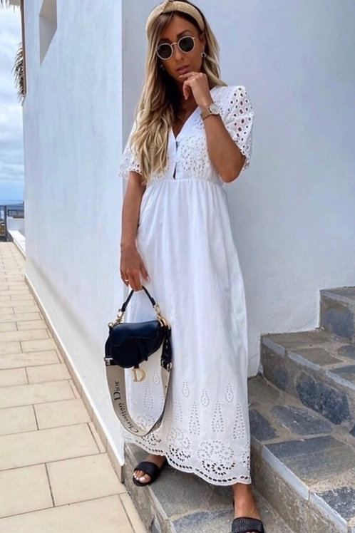Maxi broderie anglaise dress